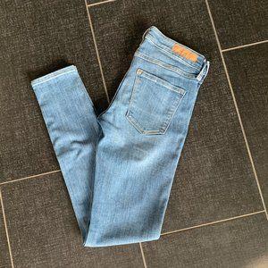 H&M &Denim Medium Wash Low Rise Skinny Jeans